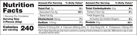 Optimum Nutrition Protein Cake Bites Nutrition Facts at Supplement Superstore Canada