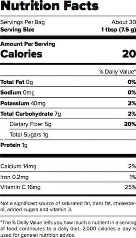 Outcast Foods Apple Powder Nutrition Facts at Supplement Superstore Canada