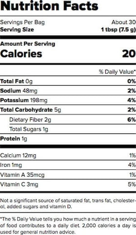 Outcast Foods Beet Powder Nutrition Facts at Supplement Superstore Canada