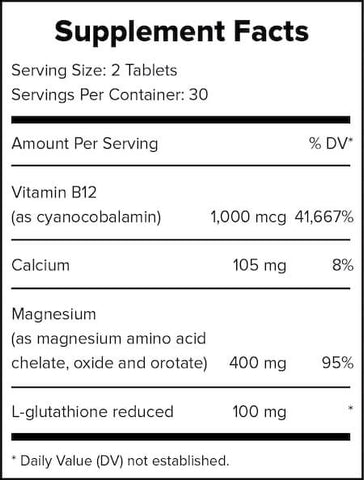 Outcast Foods MG Boost Nutrition Facts at Supplement Superstore Canada