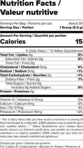Outcast Foods Super Greens Nutrition Facts at Supplement Superstore Canada