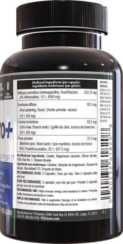 PEScience Erase Pro Nutrition Facts at Supplement Superstore Canada