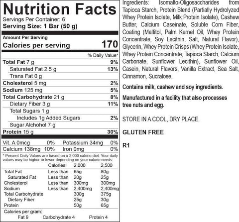 PEScience Select Protein Bar Nutrition Facts at Supplement Superstore Canada