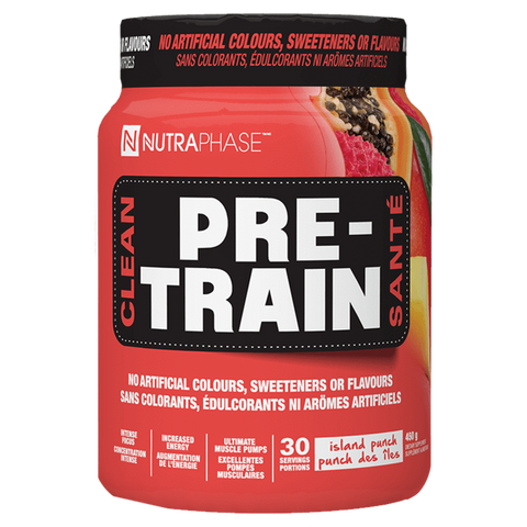 Clean Pre-Train Nutraphase Pre-Workout naturally Sweetened Supplement Superstore