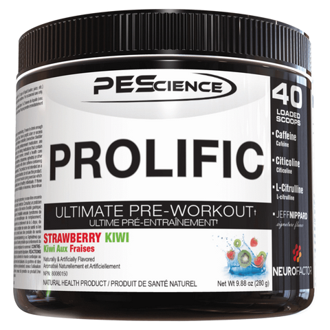 Prolific Pre-Workout PEScience Supplement Superstore