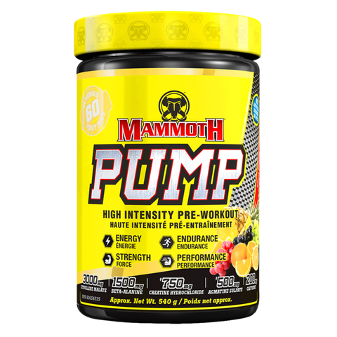 Mammoth Pump Pre-Workout Energy Supplement Superstore