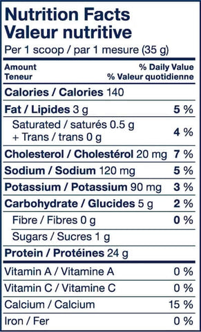 PVL Sport Whey Nutrition Facts at Supplement Superstore Canada