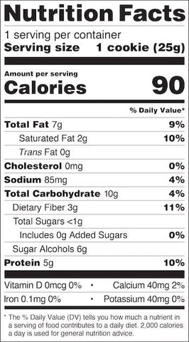 Quest Frosted Cookies Nutrition Facts at Supplement Superstore Canada