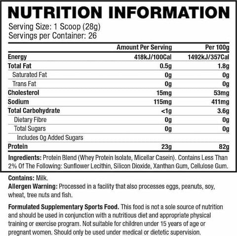Quest Protein Powder Nutrition Facts at Supplement Superstore Canada