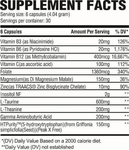 Revive MD Calm Nutrition Facts at Supplement Superstore Canada