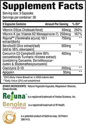 Revive MD Heart Nutrition Facts at Supplement Superstore Canada