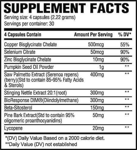 Revive MD Prostate Nutrition Facts at Supplement Superstore Canada
