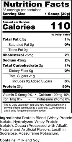 Rule One Protein Nutrition Facts at Supplement Superstore Canada