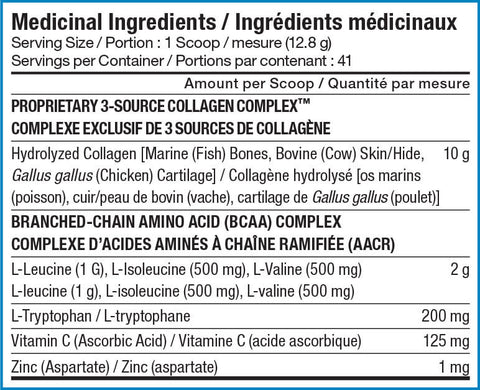 SD Pharmaceuticals Sport Collagen Nutrition Facts at Supplement Superstore Canada