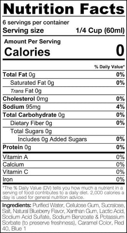 SinFit Pancake Syrup Nutrition Facts at Supplement Superstore Canada
