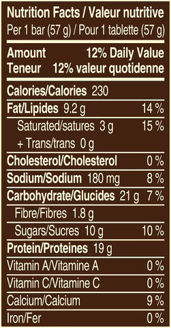 Snickers Peanut Butter Protein Bar Nutrition Facts at Supplement Superstore Canada