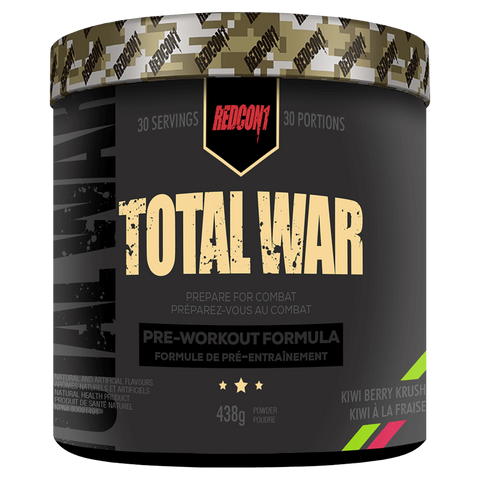 Total War Pre-Workout RedCon1 Available in Canada Supplement Superstore