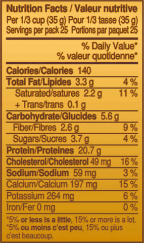 Twix Protein Powder Nutrition Facts at Supplement Superstore Canada
