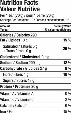 Vega Protein Bar Nutrition Facts at Supplement Superstore Canada