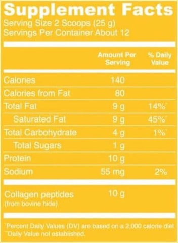 Vital Proteins Collagen Creamer Nutrition Facts at Supplement Superstore Canada