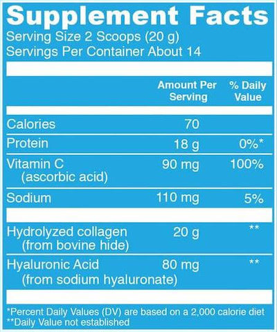 Vital Proteins Collagen Peptides Nutrition Facts at Supplement Superstore Canada