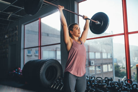 Woman weightlifting.