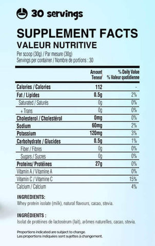 Yummy Sports Iso Nutrition Facts at Supplement Superstore Canada