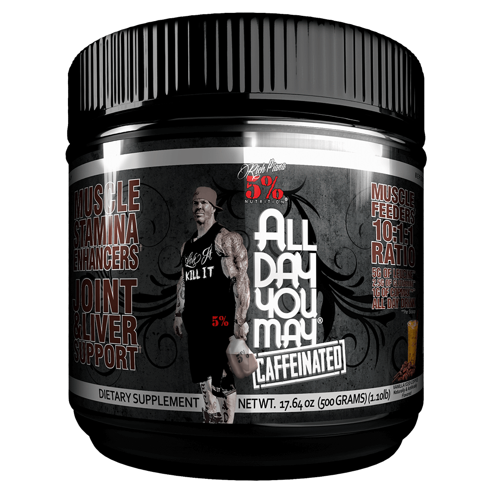 5% Nutrition All Day You May Caffeinated BCAA 25 Servings / Vanilla Iced Coffee at Supplement Superstore Canada