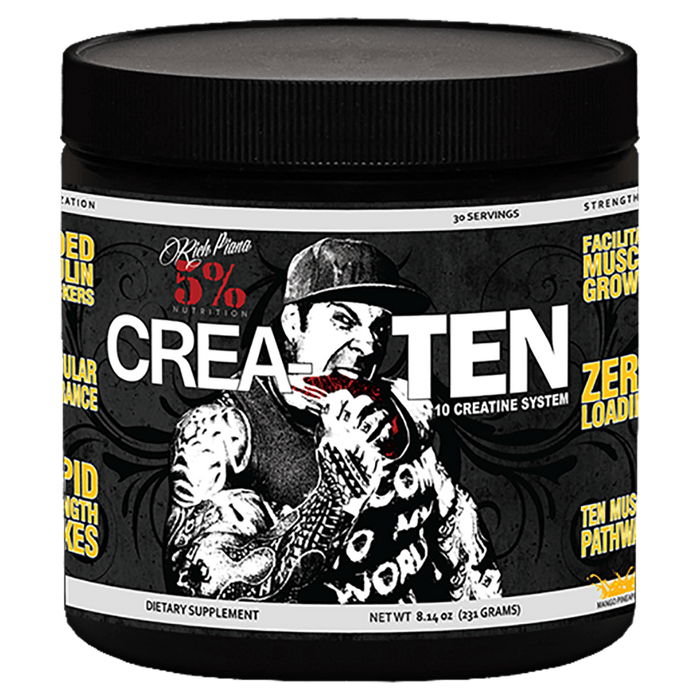 5% Nutrition Crea-TEN Creatine 30 Servings / Fruit Punch at Supplement Superstore Canada