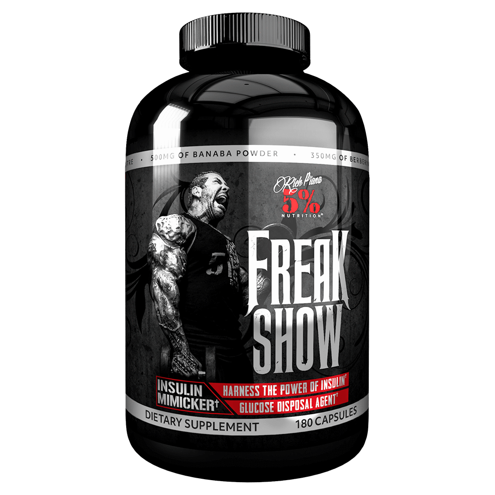 5% Nutrition Freak Show Digestion Support 180 Capsules at Supplement Superstore Canada