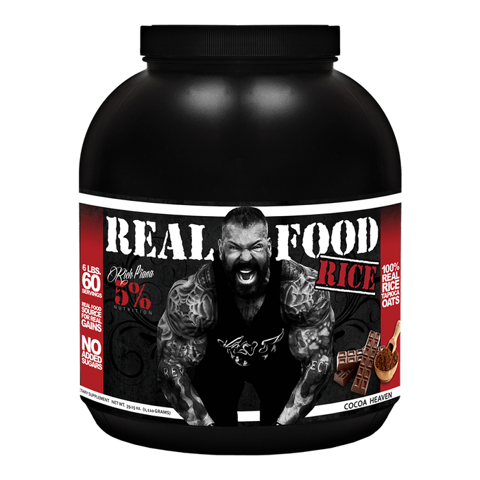 5% Nutrition Real Food Rice Carbohydrate 60 Servings / Cocoa Heaven at Supplement Superstore Canada