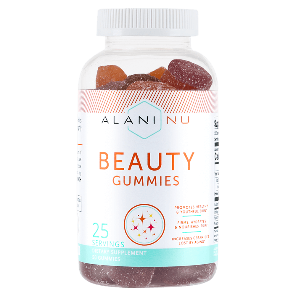 Alani Nu Beauty Gummies Health Supplements 50 Gummies / Natural Peach Mango, Raspberry Peach & Blueberry at Supplement Superstore Canada