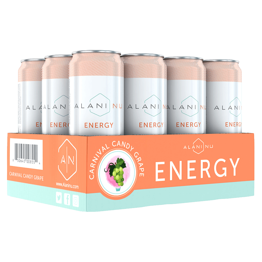 Alani Nu Energy Drinks Ready To Drink Case of 12 / Carnival Candy Grape at Supplement Superstore Canada