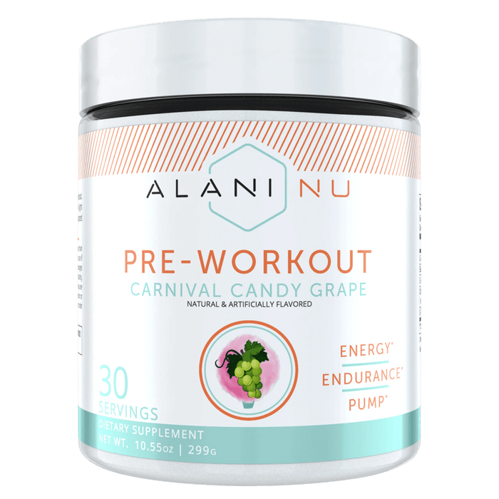 Alani Nu Pre-Workout Pre Workout 30 Servings / Carnival Candy Grape at Supplement Superstore Canada