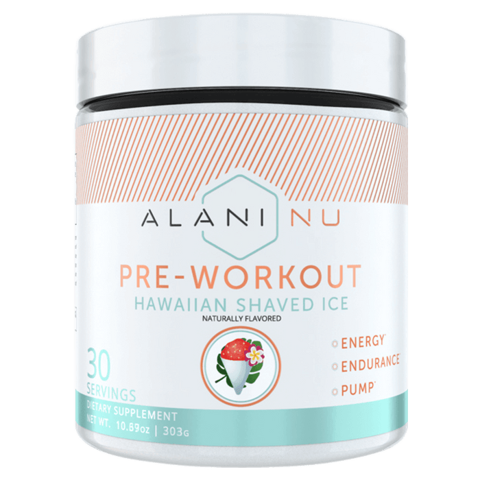 Alani Nu Pre-Workout Pre-Workout 30 Servings / Hawaiian Shaved Ice at Supplement Superstore Canada