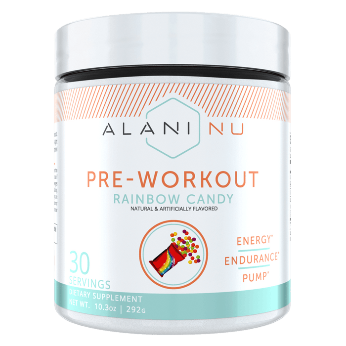 Alani Nu Pre-Workout Pre Workout 30 Servings / Rainbow Candy at Supplement Superstore Canada