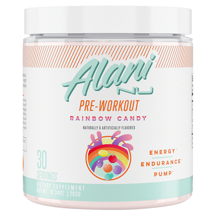 Alani Nu Pre-Workout Pre-Workout Supplements 30 Servings / Rainbow Candy at Supplement Superstore Canada 850645008059