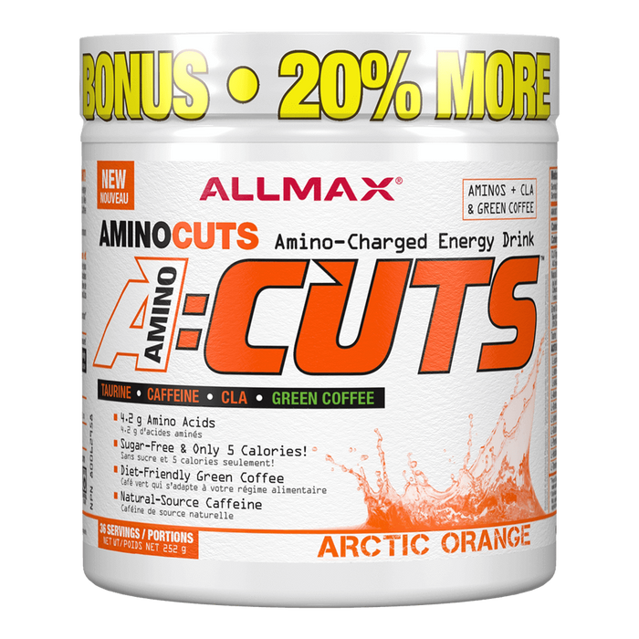 "Allmax A:Cuts BCAA + Energy 36 Servings ""Bonus Size"" / Arctic Orange at Supplement Superstore Canada"