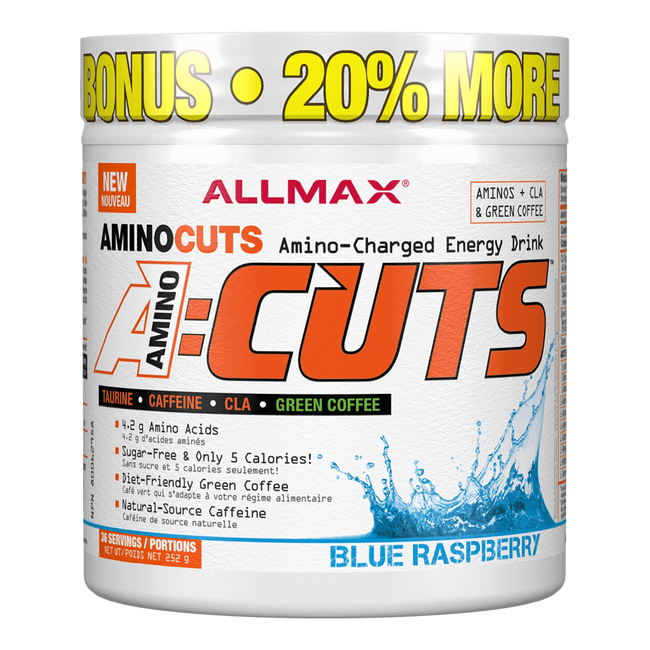 "Allmax A:Cuts BCAA + Energy 36 Servings ""Bonus Size"" / Blue Raspberry at Supplement Superstore Canada"