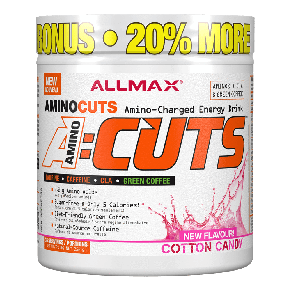 Cotton Candy A-Cuts by Allmax BCAA Energy at Supplement Superstore Canada