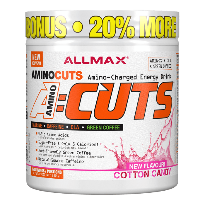 "Allmax A:Cuts BCAA + Energy 36 Servings ""Bonus Size"" / Cotton Candy at Supplement Superstore Canada"
