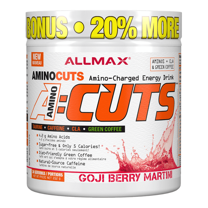"Allmax A:Cuts BCAA + Energy 36 Servings ""Bonus Size"" / Goji Berry Martini at Supplement Superstore Canada"