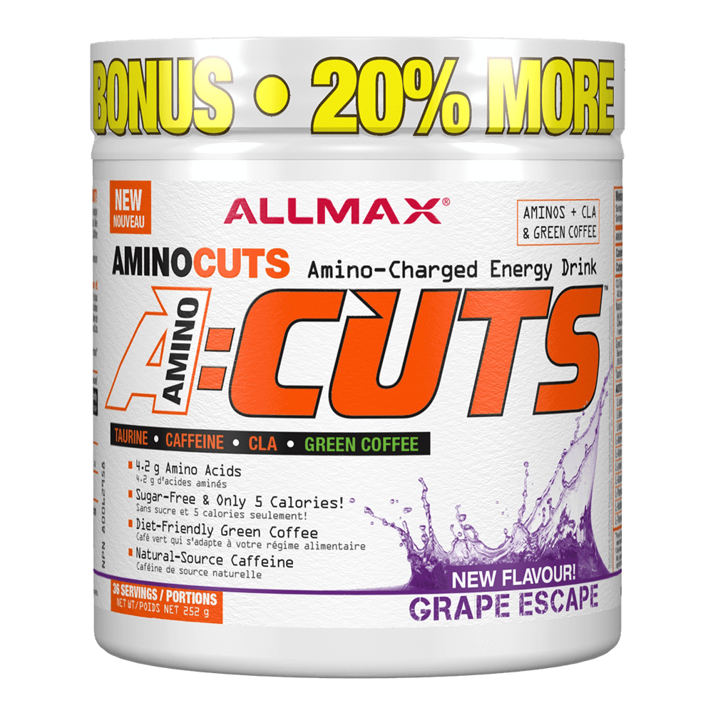 Grape Escape A-Cuts by Allmax BCAA Energy at Supplement Superstore Canada