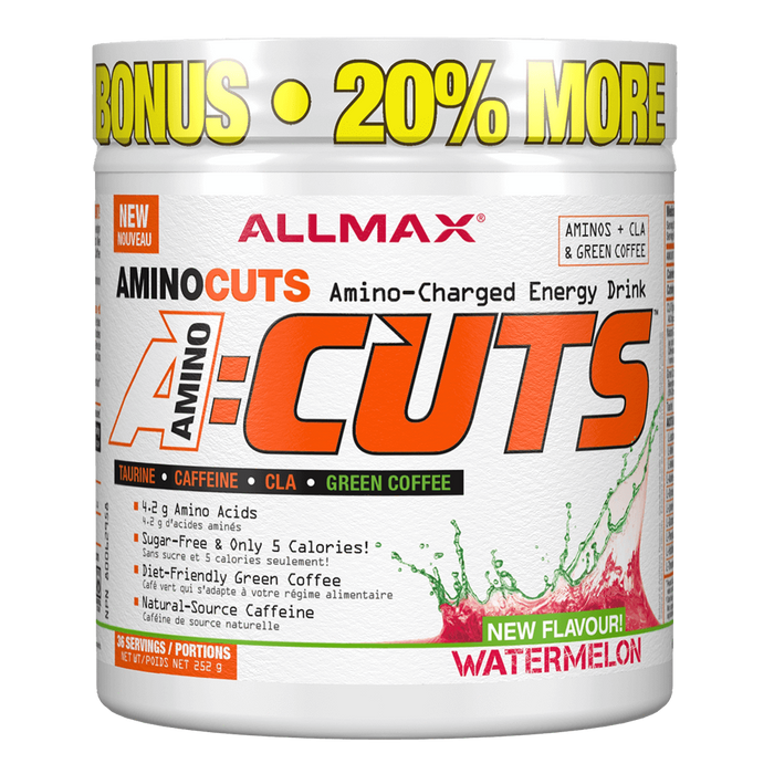 "Allmax A:Cuts BCAA + Energy 36 Servings ""Bonus Size"" / Watermelon at Supplement Superstore Canada"