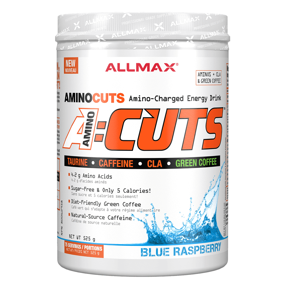 Blue Raspberry A-Cuts by Allmax BCAA Energy at Supplement Superstore Canada