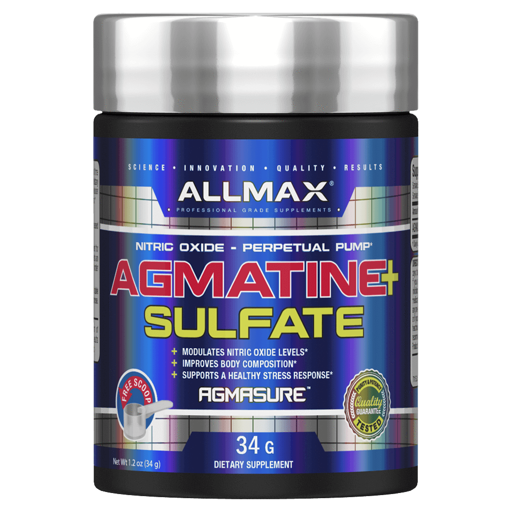 Allmax Agmatine Sulfate Pump & Vasodilator 45 Servings / Unflavoured at Supplement Superstore Canada