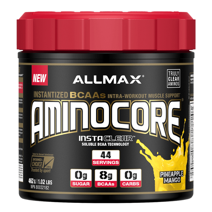 Allmax Aminocore BCAA 44 Servings / Pineapple Mango at Supplement Superstore Canada