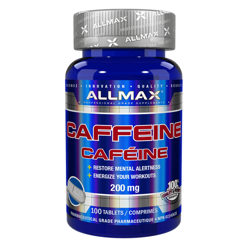 Allmax Caffeine Stimulant 100 Tablets at Supplement Superstore Canada