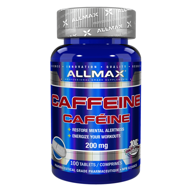 Caffeine Tablets by Allmax Raw Ingredients at Supplement Superstore Canada
