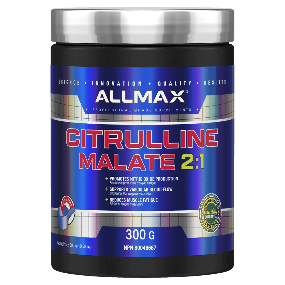 Allmax Citrulline Malate 2:1 Pump & Vasodilator 300g / Unflavoured at Supplement Superstore Canada